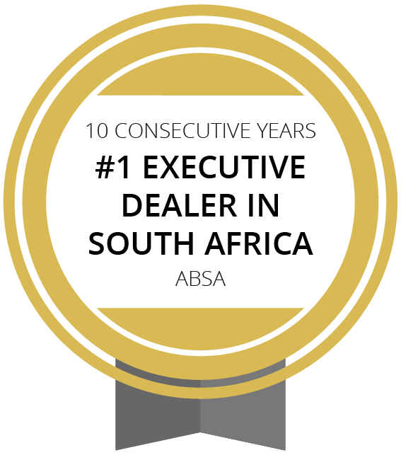 ABSA #1 Executive Dealer in SA for 10 Consecutive Years